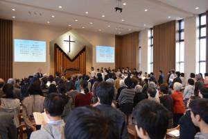 礼拝の様子